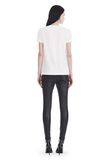 T by ALEXANDER WANG SUPERFINE JERSEY V-NECK TEE TOP Adult 8_n_r