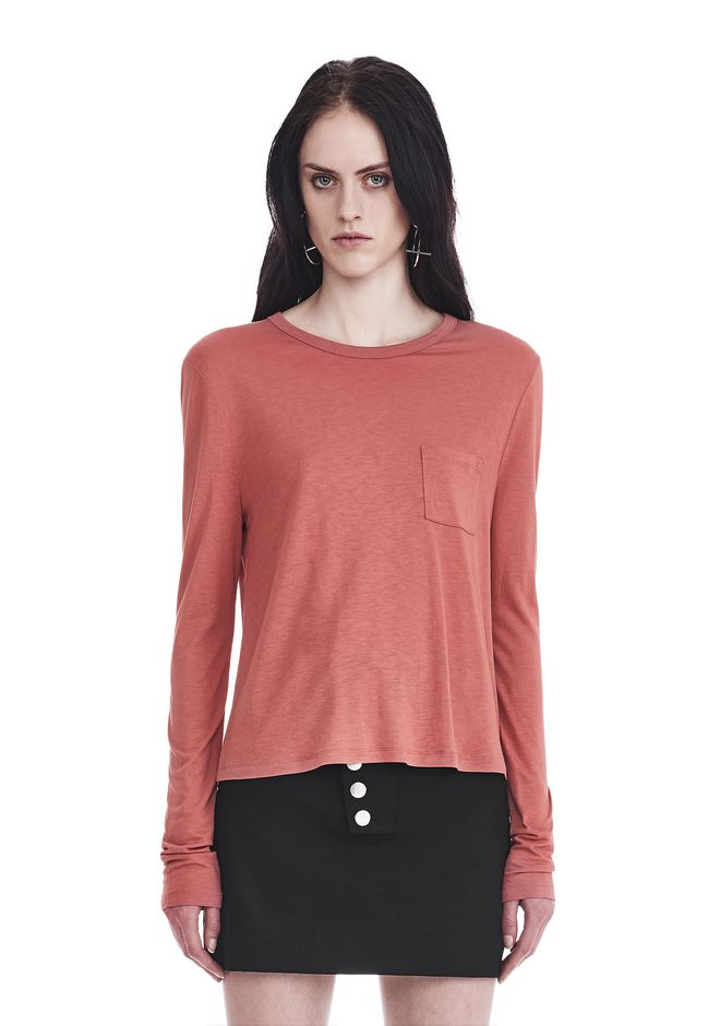 T by ALEXANDER WANG sltbtp CLASSIC CROPPED LONG SLEEVE TEE