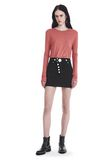 T by ALEXANDER WANG CLASSIC CROPPED LONG SLEEVE TEE TOP Adult 8_n_f
