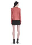 T by ALEXANDER WANG CLASSIC CROPPED LONG SLEEVE TEE TOP Adult 8_n_r