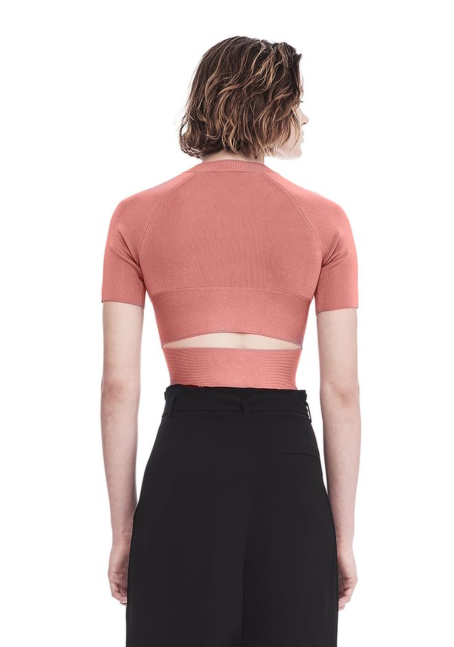 T by ALEXANDER WANG KNIT CRISS CROSS CROP TOP TOP Adult 12_n_d