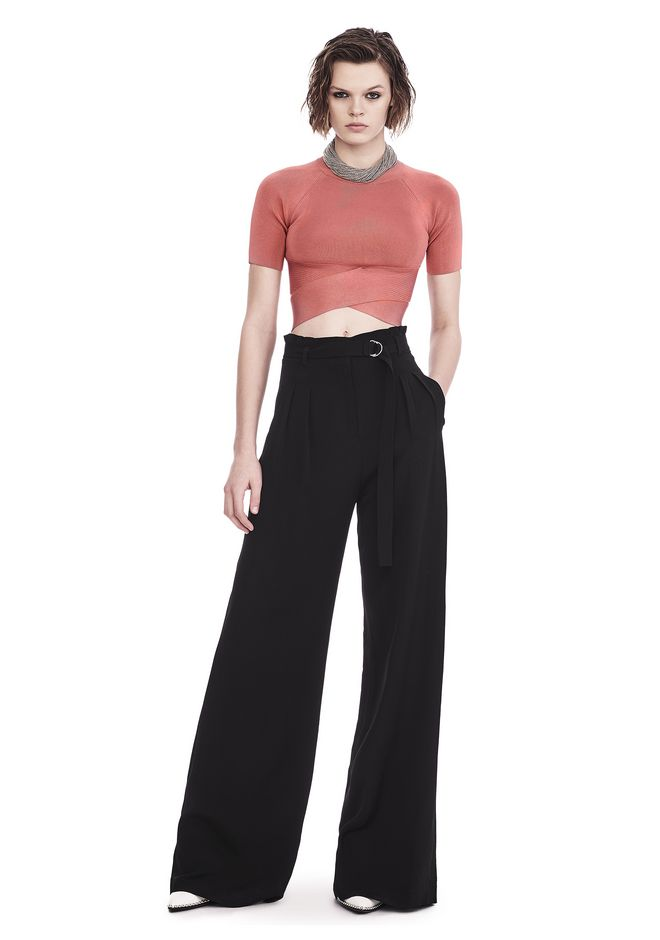 Cheap Sale Best Prices T By Alexander Wang open back long sleeve knit top Buy Cheap Footaction Websites 5ueMlUw