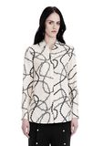 ALEXANDER WANG BUTTON-UP SHIRT WITH BARBED WIRE PRINT TOP Adult 8_n_a