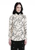 ALEXANDER WANG BUTTON-UP SHIRT WITH BARBED WIRE PRINT TOP Adult 8_n_e