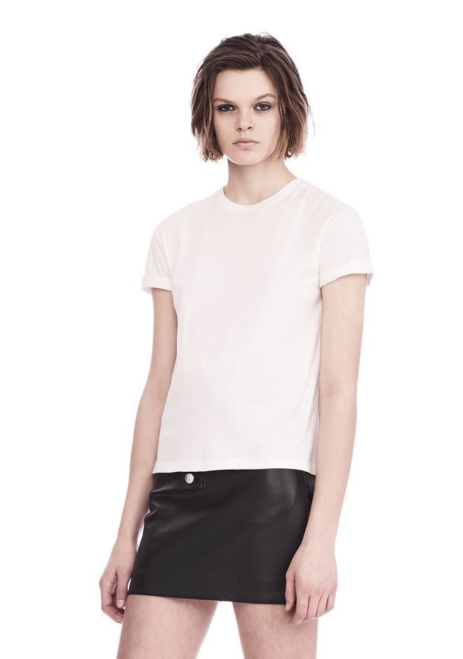 T by ALEXANDER WANG SUPERFINE JERSEY CREWNECK TEE  上衣 Adult 12_n_a