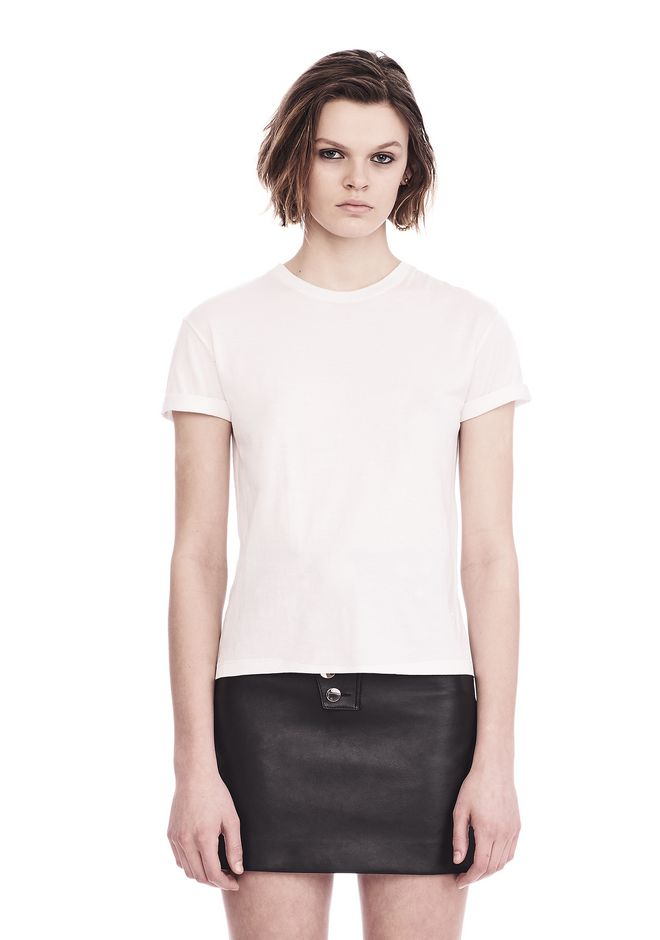 T by ALEXANDER WANG SUPERFINE JERSEY CREWNECK TEE  上衣 Adult 12_n_e