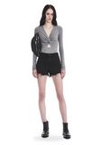 T by ALEXANDER WANG TWIST FRONT LONG SLEEVE BODYSUIT TOP Adult 8_n_f