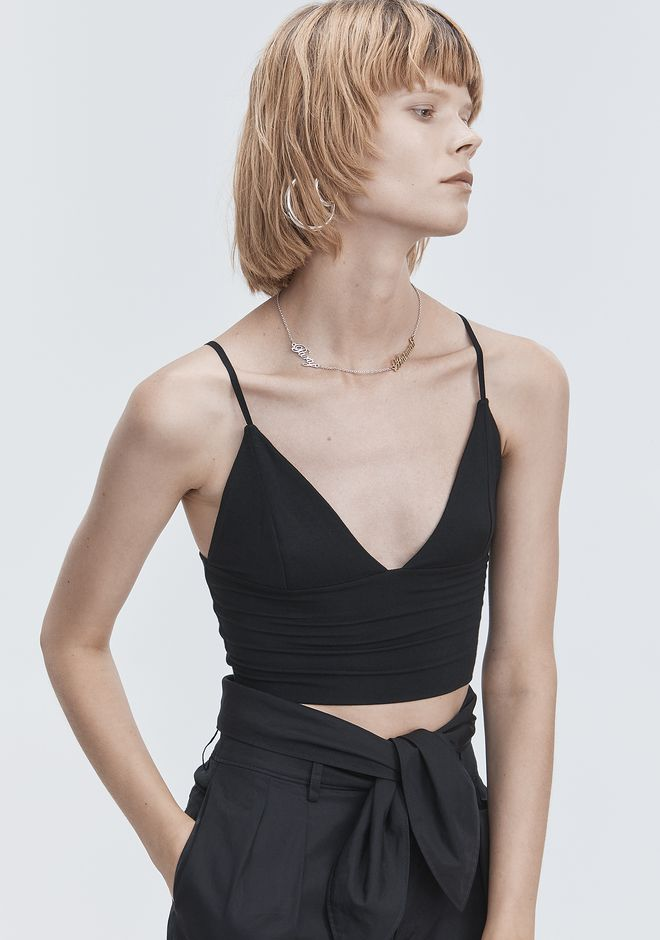T by ALEXANDER WANG EXCLUSIVE TRIANGLE BRALETTE TOP TOP Adult 12_n_a
