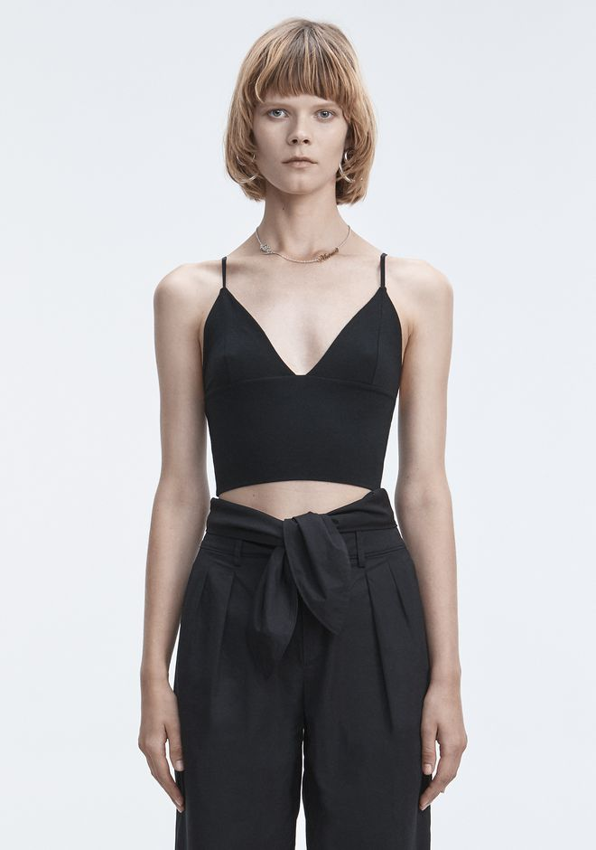 T by ALEXANDER WANG EXCLUSIVE TRIANGLE BRALETTE TOP TOPS Adult 12_n_e