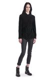 T by ALEXANDER WANG  TWIST FRONT SHORT SLEEVE CROPPED SWEATER TOP Adult 8_n_f