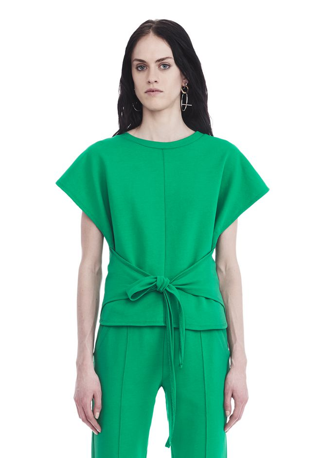 T by ALEXANDER WANG t-by-alexander-wang-sale SHORT SLEEVE WRAP FRONT TOP