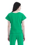 T by ALEXANDER WANG SHORT SLEEVE WRAP FRONT TOP TOP Adult 8_n_d