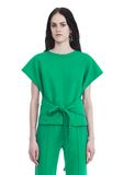 T by ALEXANDER WANG SHORT SLEEVE WRAP FRONT TOP TOP Adult 8_n_e