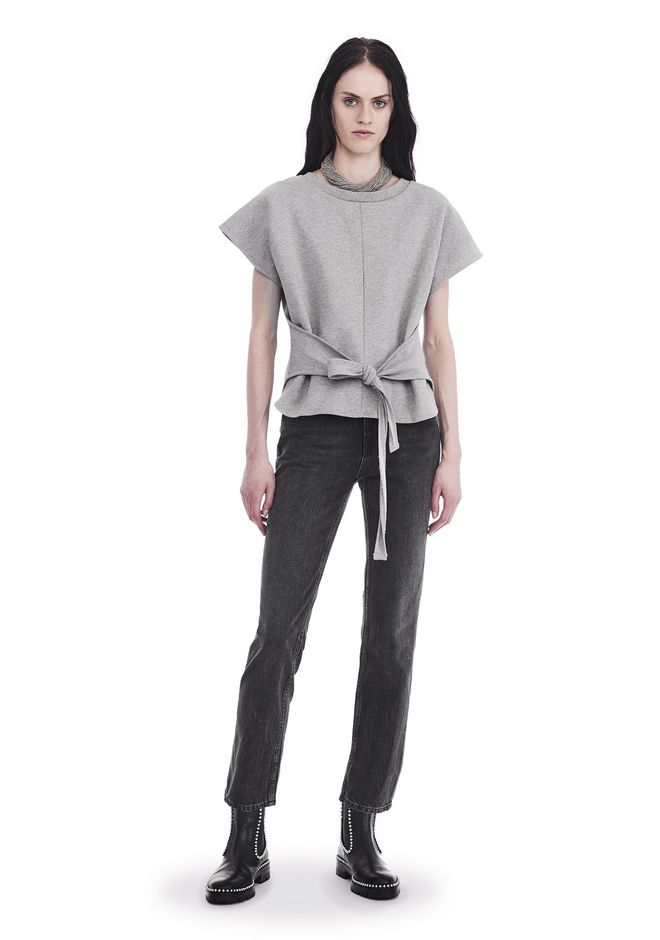 Short Sleeve Wrap Front Top by Alexander Wang