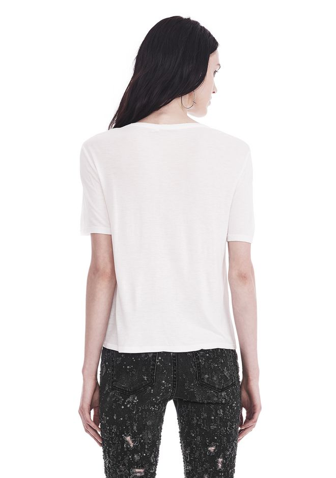 T by ALEXANDER WANG CLASSIC CROPPED TEE WITH POCKET TOP Adult 12_n_d