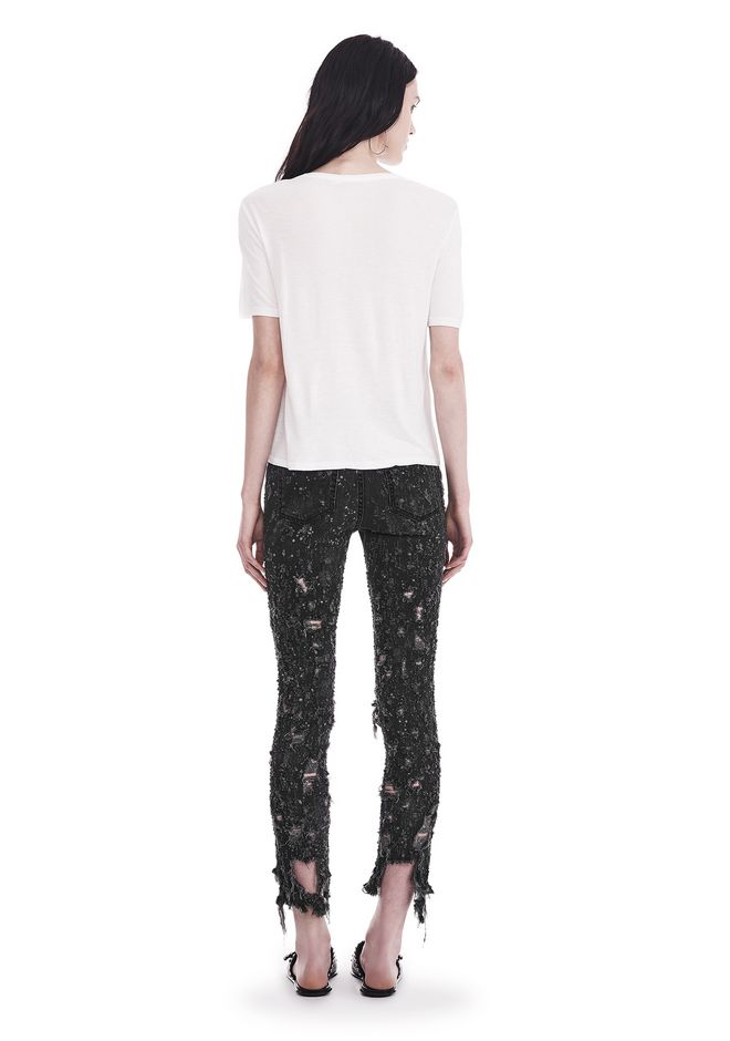 T by ALEXANDER WANG CLASSIC CROPPED TEE WITH POCKET TOP Adult 12_n_r