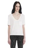 T by ALEXANDER WANG CLASSIC CROPPED TEE WITH POCKET TOP Adult 8_n_e