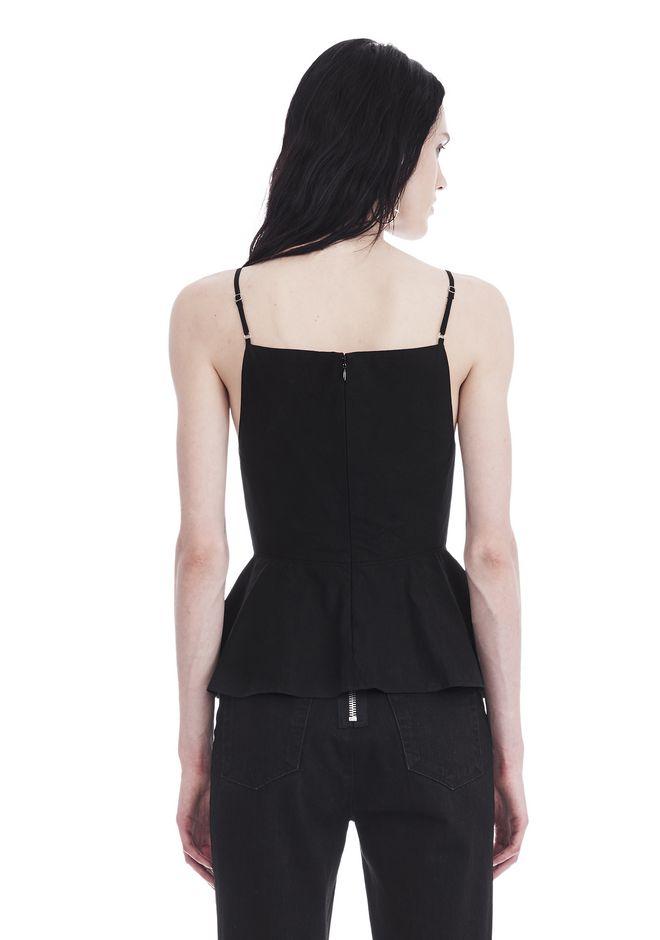 T by ALEXANDER WANG COTTON POPLIN CAMISOLE WITH FRONT KEYHOLE 上衣 Adult 12_n_d