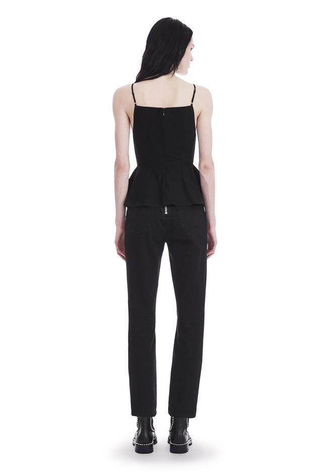 T by ALEXANDER WANG COTTON POPLIN CAMISOLE WITH FRONT KEYHOLE 上衣 Adult 12_n_r