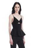 T by ALEXANDER WANG COTTON POPLIN CAMISOLE WITH FRONT KEYHOLE 上衣 Adult 8_n_a