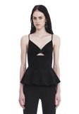 T by ALEXANDER WANG COTTON POPLIN CAMISOLE WITH FRONT KEYHOLE 上衣 Adult 8_n_e
