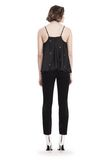 T by ALEXANDER WANG SILK CHARMEUSE MIXED MEDIA TRAPEZE SHIRT  上衣 Adult 8_n_r