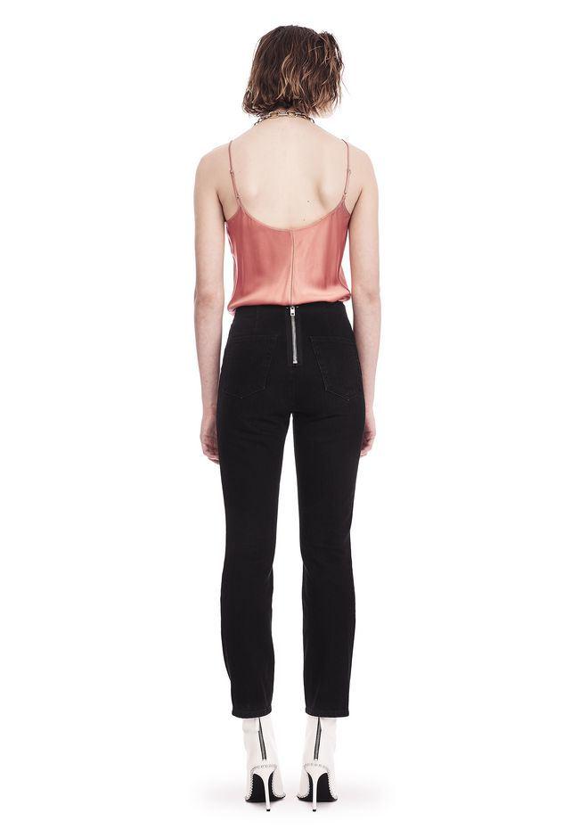 T by ALEXANDER WANG SILK CHARMEUSE CAMI BODYSUIT TOP Adult 12_n_r