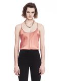T by ALEXANDER WANG SILK CHARMEUSE CAMI BODYSUIT TOP Adult 8_n_e