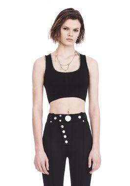 BRA TOP WITH BALL CHAIN TRIMS