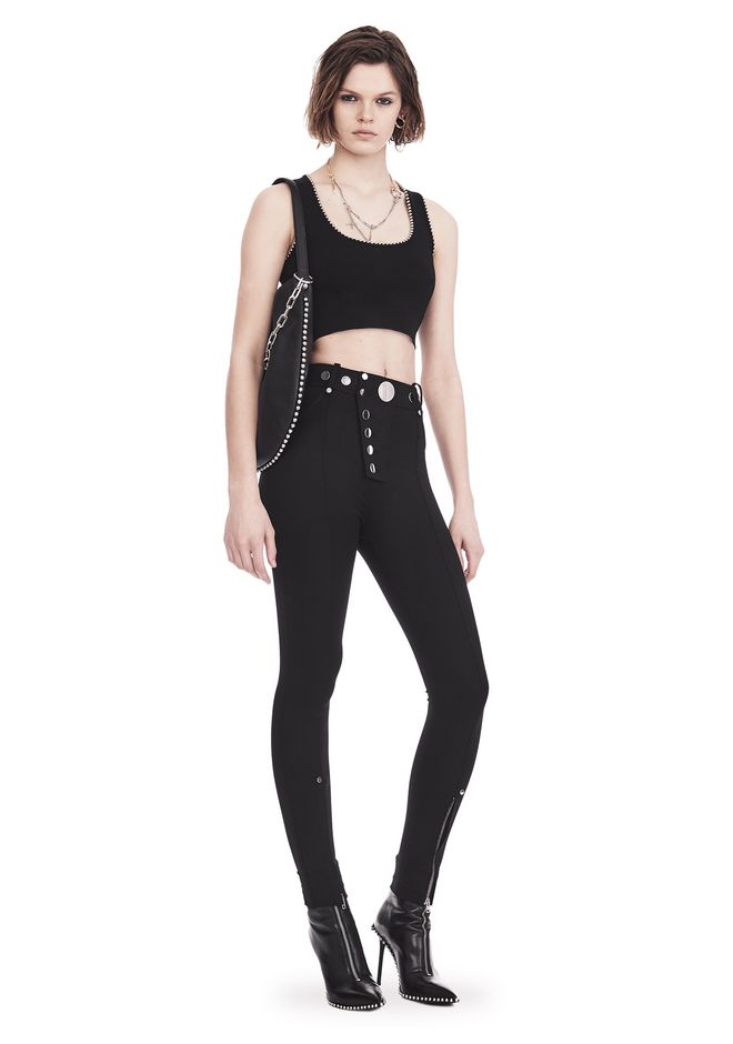 ALEXANDER WANG BRA TOP WITH BALL CHAIN TRIMS TOP Adult 12_n_f