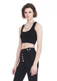 ALEXANDER WANG BRA TOP WITH BALL CHAIN TRIMS TOP Adult 8_n_a