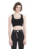 ALEXANDER WANG BRA TOP WITH BALL CHAIN TRIMS TOP Adult 8_n_e