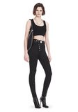 ALEXANDER WANG BRA TOP WITH BALL CHAIN TRIMS TOP Adult 8_n_f