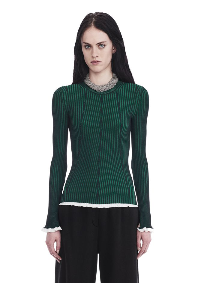 T by ALEXANDER WANG knitwear-t-by-alexander-wang-woman FLARED SLEEVE RIB SWEATER
