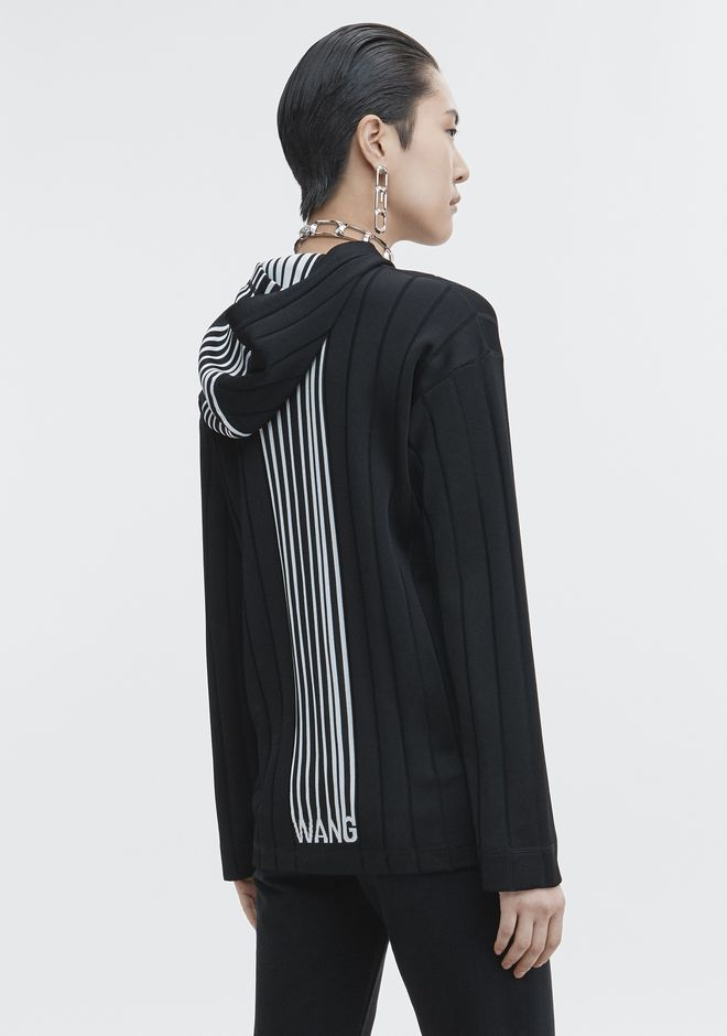 ALEXANDER WANG TOPS Women EXCLUSIVE HOODIE PULLOVER WITH BARCODE LOGO