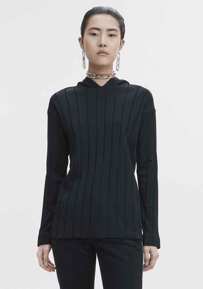 ALEXANDER WANG EXCLUSIVE HOODIE PULLOVER WITH BARCODE LOGO  TOP Adult 12_n_d