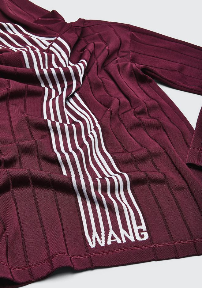 ALEXANDER WANG EXCLUSIVE HOODIE PULLOVER WITH BARCODE LOGO  TOP Adult 12_n_a
