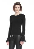 ALEXANDER WANG LONG SLEEVE PULLOVER WITH RUFFLED BALL CHAIN CUFFS TOP Adult 8_n_a