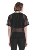 ALEXANDER WANG LACY T-SHIRT WITH RAW EDGES TOP Adult 8_n_d