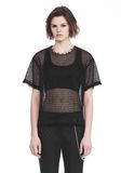 ALEXANDER WANG LACY T-SHIRT WITH RAW EDGES TOP Adult 8_n_e