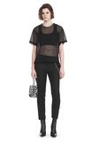 ALEXANDER WANG LACY T-SHIRT WITH RAW EDGES TOP Adult 8_n_f
