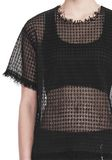 ALEXANDER WANG LACY T-SHIRT WITH RAW EDGES TOP Adult 8_n_r