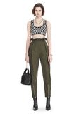 ALEXANDER WANG CHECKERBOARD BRA TOP WITH BALL CHAIN TRIM TOP Adult 8_n_f