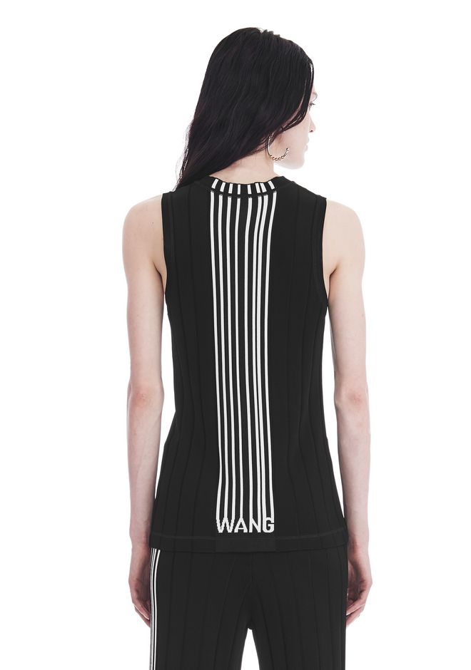 ALEXANDER WANG EXCLUSIVE TANK TOP WITH BARCODE LOGO  TOP Adult 12_n_a