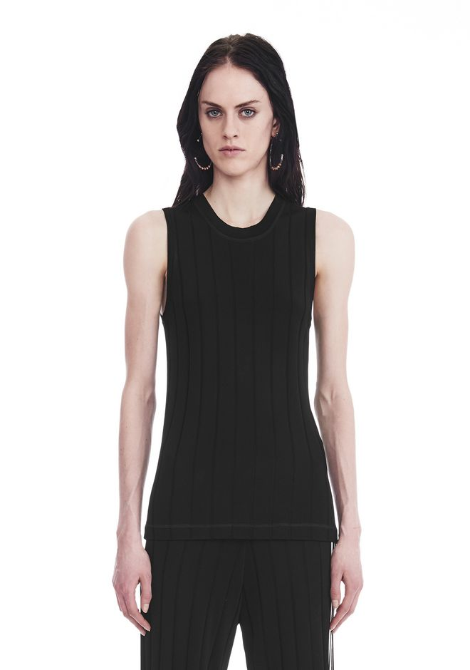 ALEXANDER WANG EXCLUSIVE TANK TOP WITH BARCODE LOGO  TOP Adult 12_n_d