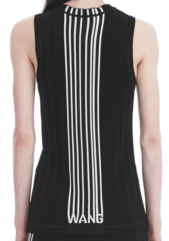 ALEXANDER WANG EXCLUSIVE TANK TOP WITH BARCODE LOGO  TOP Adult 12_n_r
