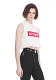 ALEXANDER WANG CREWNECK CROP TOP WITH STRICT PATCH TANK Adult 8_n_a