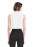 ALEXANDER WANG CREWNECK CROP TOP WITH STRICT PATCH TANK Adult 8_n_d