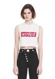 ALEXANDER WANG CREWNECK CROP TOP WITH STRICT PATCH TANK Adult 8_n_e