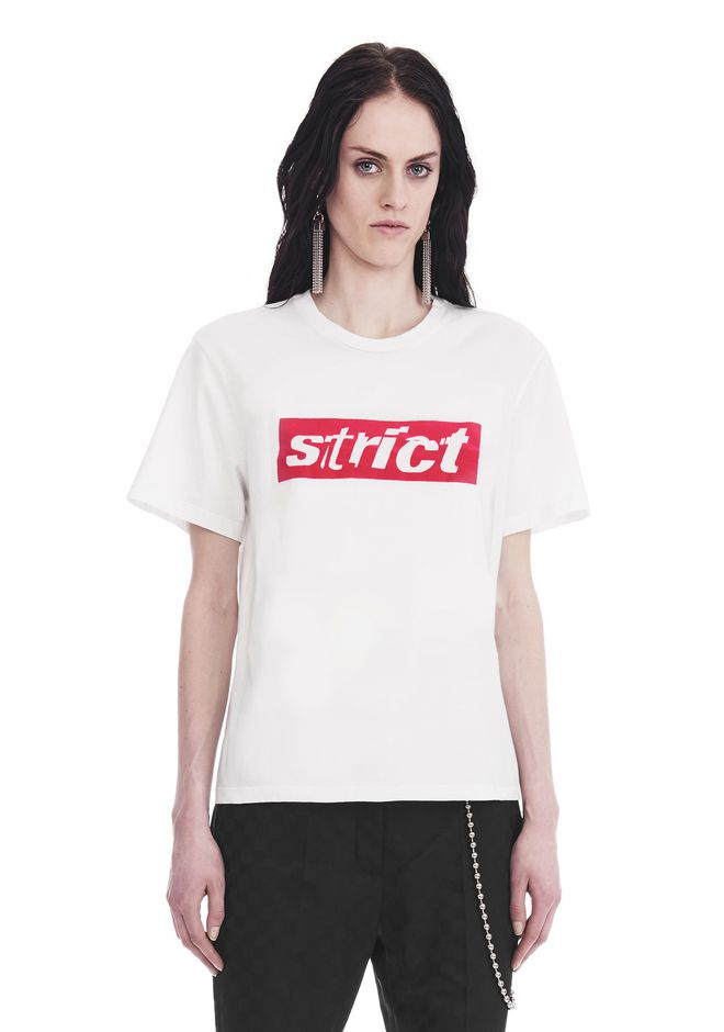 ALEXANDER WANG slrtwtp BOXY CREW NECK T-SHIRT WITH STRICT PATCH
